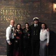 Actors at Sherlock Holmes exhibit