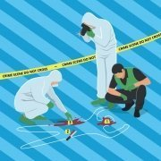 Crime scene cartoon