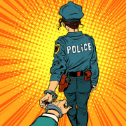 Police arrest cartoon